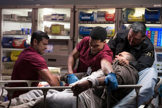 Holding Down a Patient - The Night Shift Season 4 Episode 1
