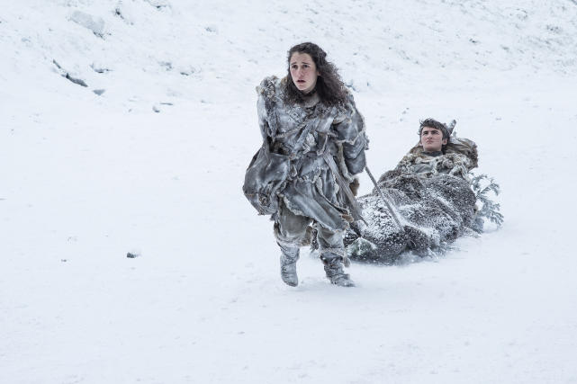 Meera and Bran in the Snow - Game of Thrones