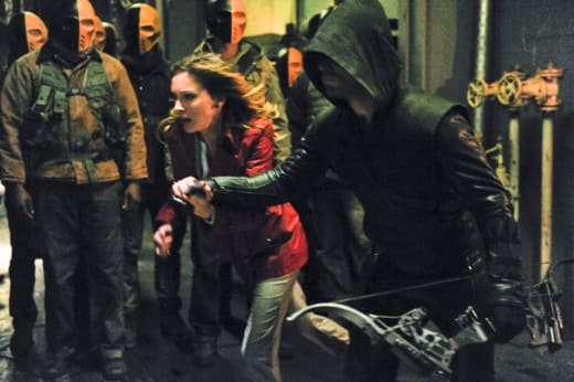 Laurel and the Arrow Flee