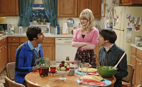 Raj Chats with Bernadette and Howard - The Big Bang Theory Season 8 Episode 24