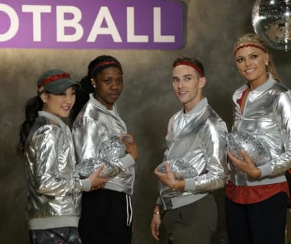 Sparkly Footballs - Dancing With the Stars: Athletes