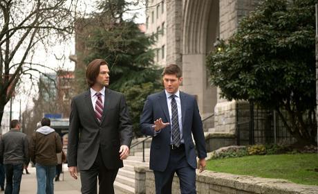 Sam and Dean Walking - Supernatural Season 10 Episode 16