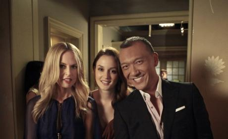 Blair, Rachel Zoe and Joe Zee