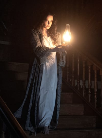 Rebecca Morgan on the Stairs