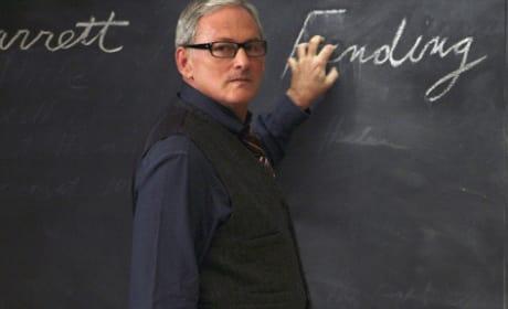 Victor Garber at Professor Barrett