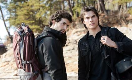 The Vampire Diaries Spoiler Pics: Cure Searching & Hunter Battling