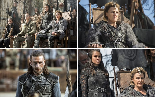 Ice queen on her throne the 100 season 3 episode 4