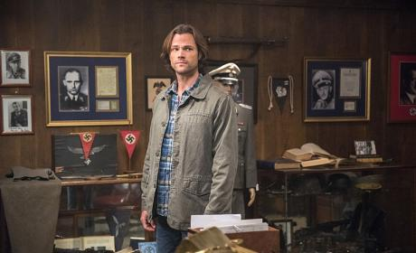 Sam discovers a room full of Nazi stuff - Supernatural Season 12 Episode 5