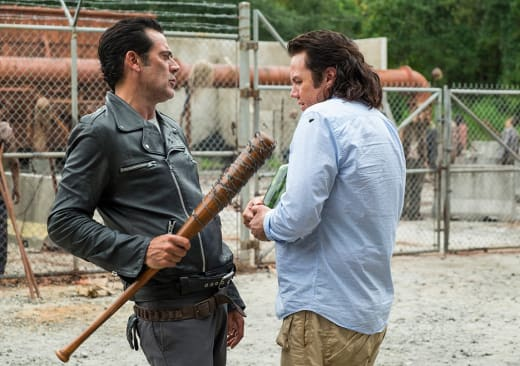 Eugene and Negan - The Walking Dead Season 7 Episode 11