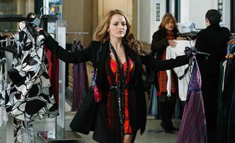 Amanda Grabs Two Dresses