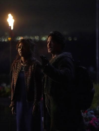 Bellamy and Priya - The 100 Season 6 Episode 12