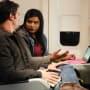 Mindy on a Plane