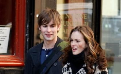Leighton Meester, Chace Crawford on the Gossip Girl Set