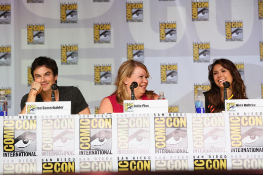 Ian Somerhalder, Nina Dobrev and Julie Plec