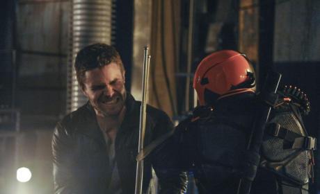 Oliver vs Deathstroke