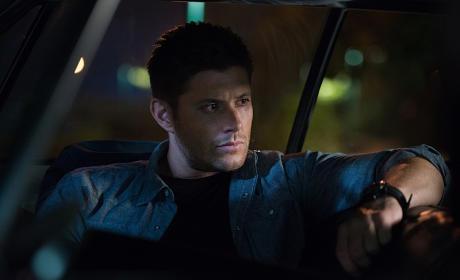 Dean relaxing in the Impala - Supernatural Season 11 Episode 4