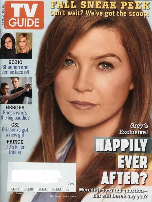 Ellen Pompeo On Tv Guide Cover Tv Fanatic