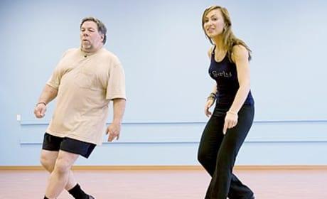 Karina Smirnoff and Steve Wozniak Rehearsal