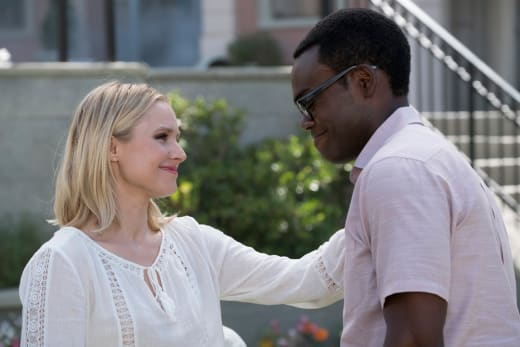 Eleanor Comforts Chidi - The Good Place Season 2 Episode 10