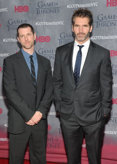 D.B. Weiss and David Benioff Attend GOT Premiere