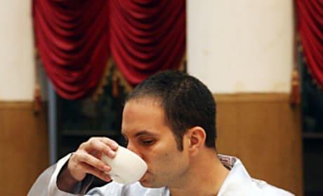 Zev Drinks Tea