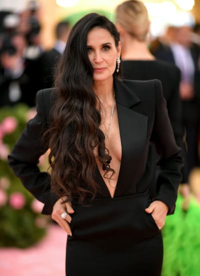 Demi Moore Poses at the 2019 Met Gala