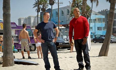 Callen and Sam on the Scene