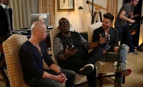 Randy Jackson, Chris Daughtry, and Adam Lambert