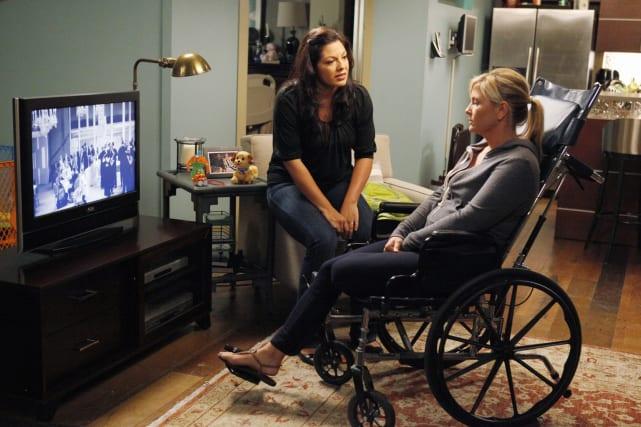 "Callie ""Lies"" to Arizona About Saving her Leg - Grey's Anatomy"