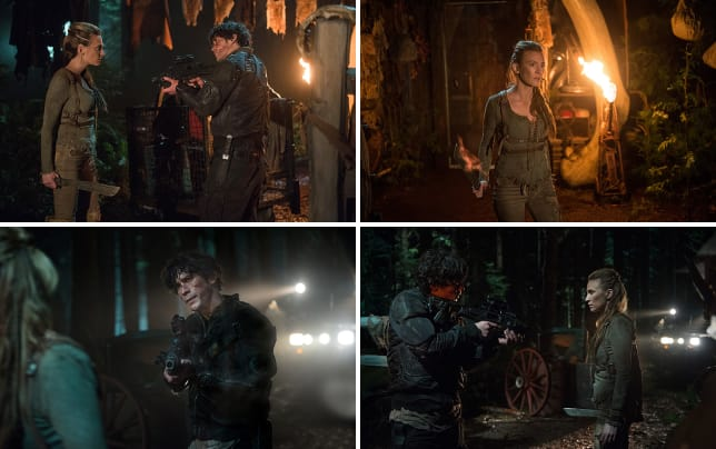 Bellamy vs niylah the 100 season 3 episode 11