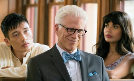 Jason, Michael, and Tahani - The Good Place Season 2 Episode 10