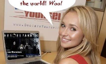 Hayden Panettiere Reads, Loves Heroes Fanatic