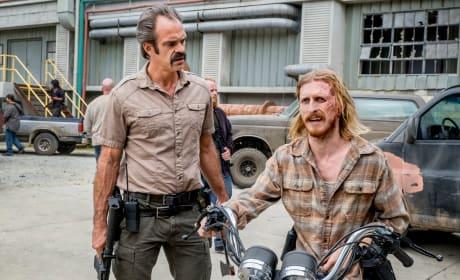 Back On The Hog - The Walking Dead Season 8 Episode 12