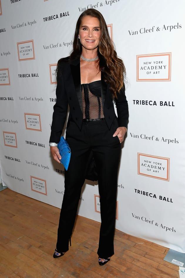 Brooke Shields Wears Black