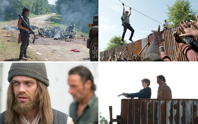 Daryl with a rocket launcher the walking dead