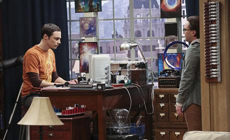 Leonard Talks to Sheldon