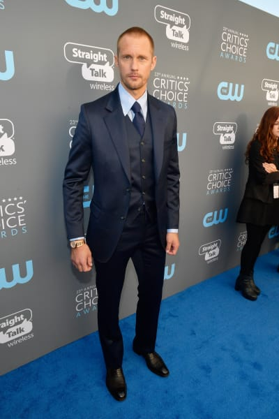 Alexander Skarsgard Attends Critics Choice Awards