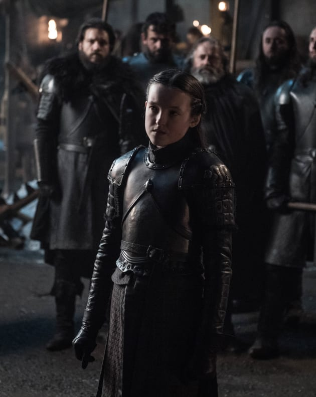 Lyanna Mormont Ready for Battle - Game of Thrones Season 8 Episode 2