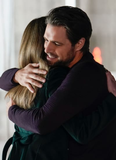 Richard and Sutton hug - The Bold Type Season 5 Episode 5