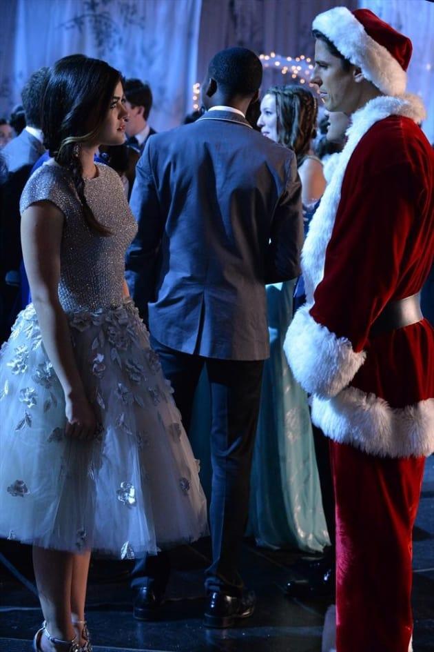 Aria and Santa - Pretty Little Liars Season 5 Episode 13