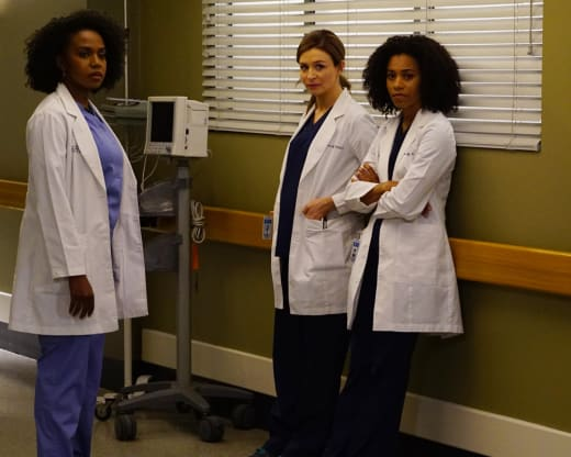 Amelia, Maggie, and Stephanie - Grey's Anatomy Season 13 Episode 3