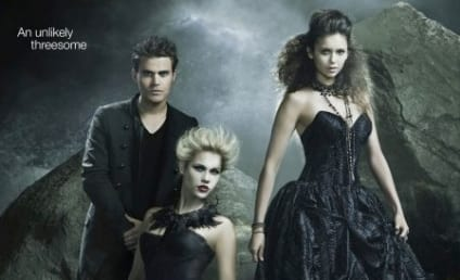 Vampire Diaries February Sweeps Poster: An Unlikely Threesome