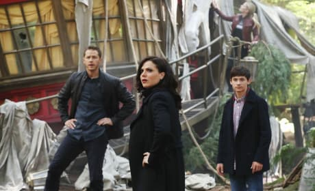David, Regina, and Henry - Once Upon a Time