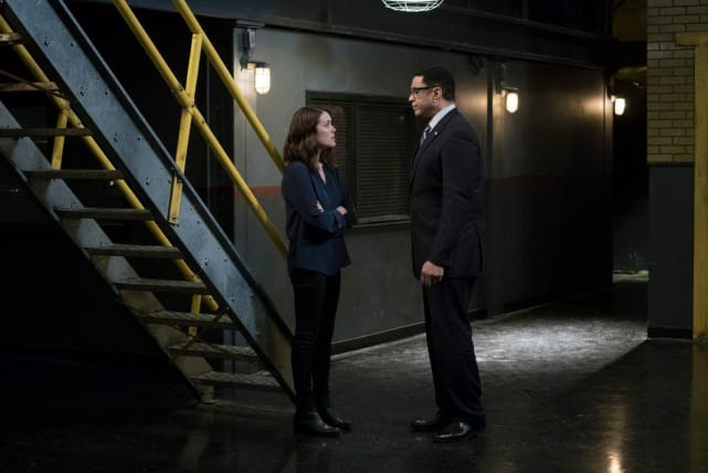 Harold and Liz decide to chat - The Blacklist Season 4 Episode 9