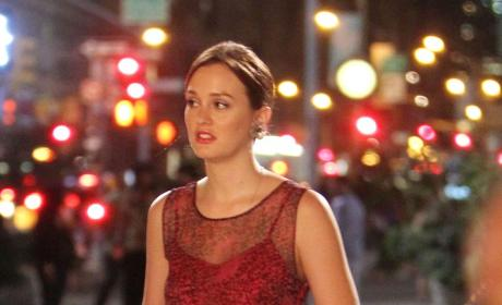 Lovely Leighton in Red