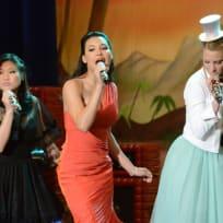 Tina, Santana and Brittany