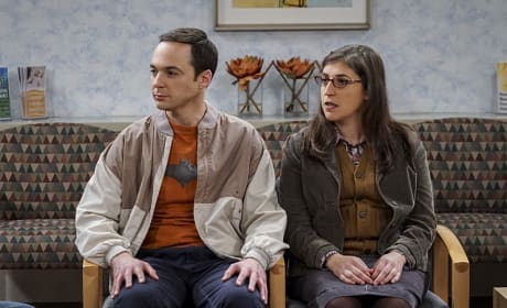 Sheldon and Amy in the Waiting Room - The Big Bang Theory Season 10 Episode 11