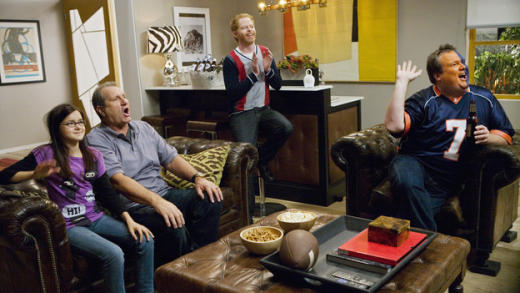 The Modern Family Watches Football