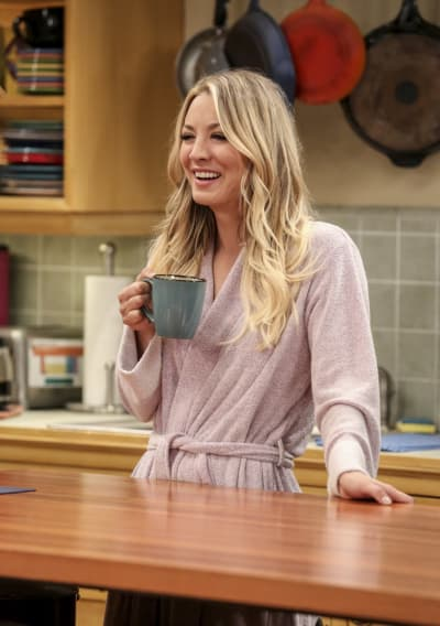 Penny Drinks Some Coffee - The Big Bang Theory Season 10 Episode 18