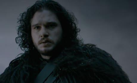 Jon Snow in the Snow - Game of Thrones